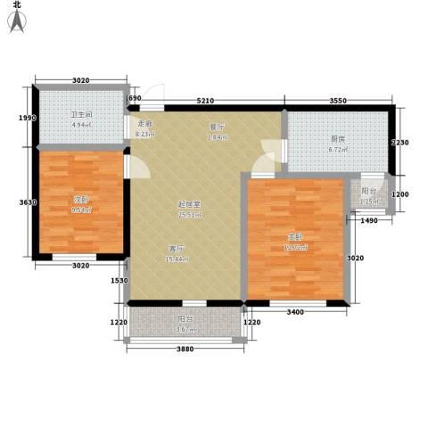 朝阳绿茵 朝阳上品2室0厅1卫1厨93.00㎡户型图