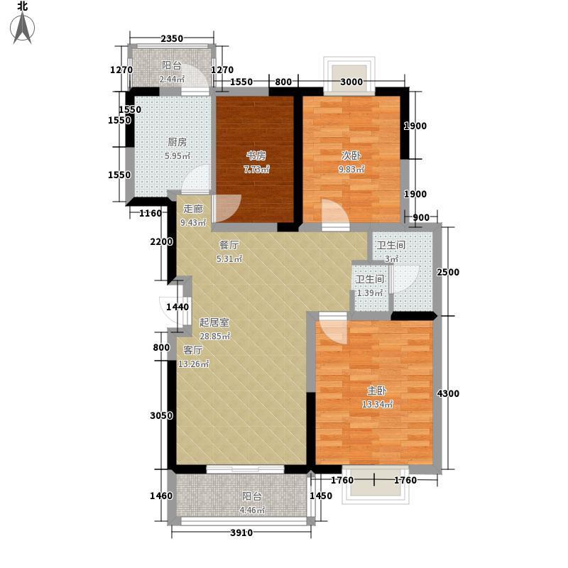 南悦城蓝岸98.00㎡C2户型3室2厅