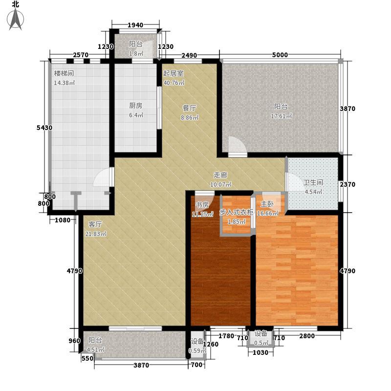 朝阳绿茵 朝阳上品两室两厅一卫 109.76-110.88平米户型