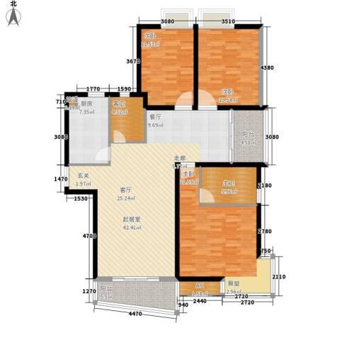 天赐良园3室0厅0卫1厨132.00㎡户型图