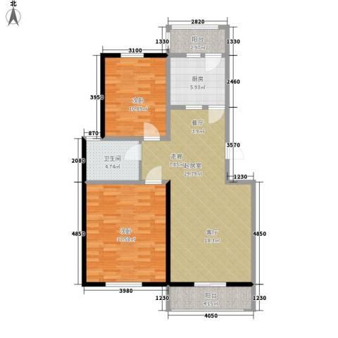 朝阳绿茵 朝阳上品2室0厅1卫1厨107.00㎡户型图