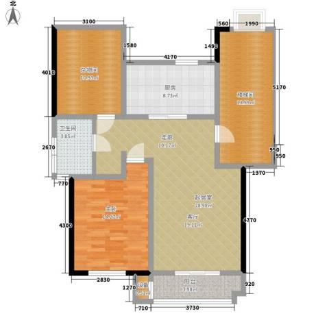朝阳绿茵 朝阳上品1室0厅1卫1厨121.00㎡户型图