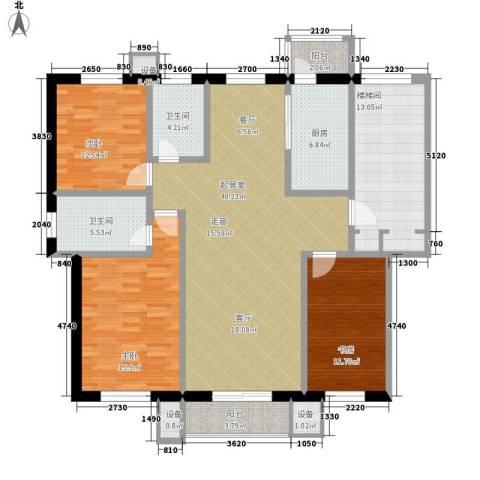 朝阳绿茵 朝阳上品3室0厅2卫1厨168.00㎡户型图
