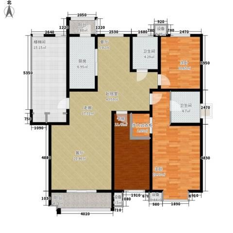 朝阳绿茵 朝阳上品3室0厅2卫1厨179.00㎡户型图