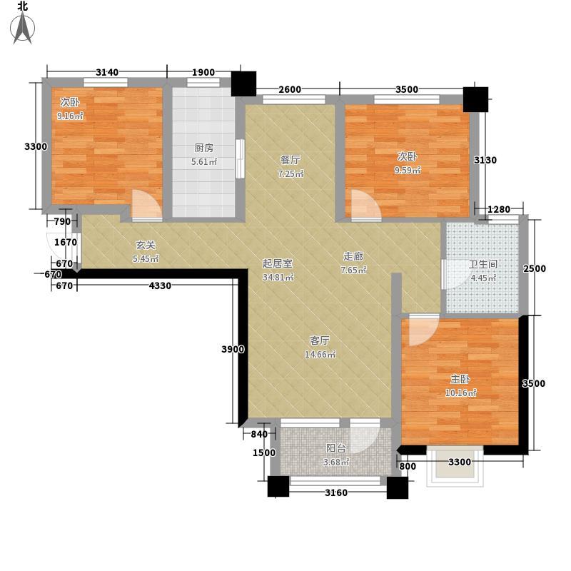 滨湖国际高层4#、6#C户型