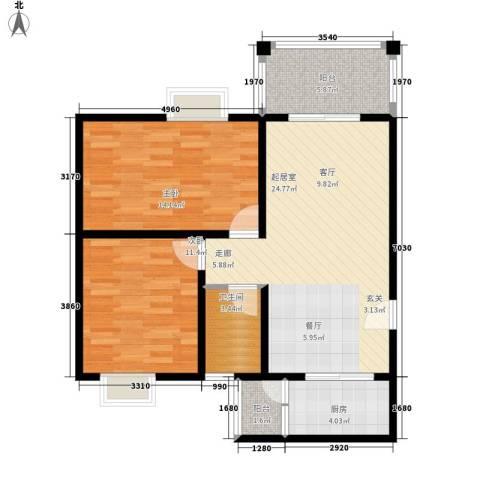 吉粮康城2室0厅1卫1厨81.00㎡户型图