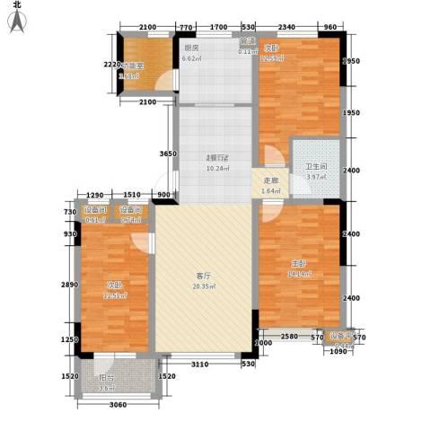鲁辉国际城3室0厅1卫1厨123.00㎡户型图