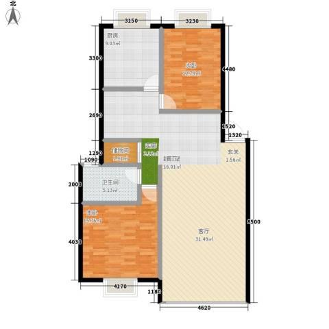 金谷大厦2室0厅1卫1厨133.00㎡户型图