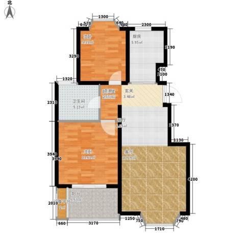 卓峰家园2室0厅1卫1厨79.00㎡户型图