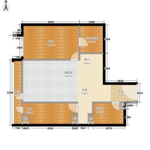 华贸国际公寓1室0厅1卫1厨82.00㎡户型图