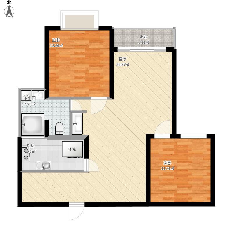 105平米两室两厅
