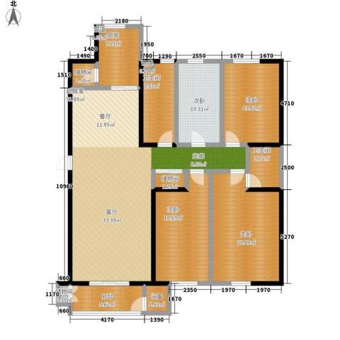 维明水湾4室0厅2卫1厨163.00㎡户型图