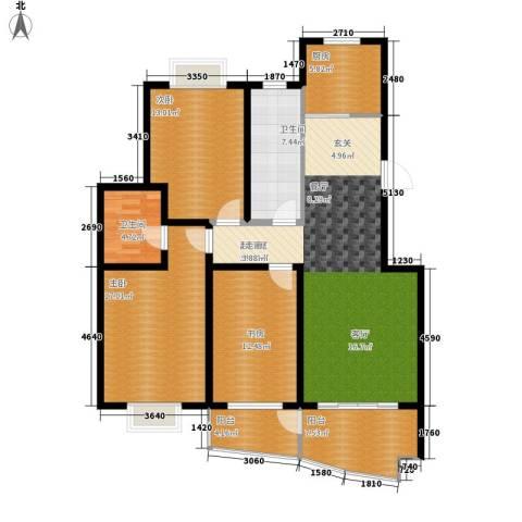 中南・麒麟锦城3室0厅2卫1厨132.00㎡户型图