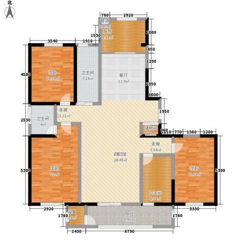 维明水湾3室0厅3卫1厨166.00㎡户型图