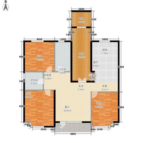 世嘉星海二期3室0厅2卫0厨189.00㎡户型图