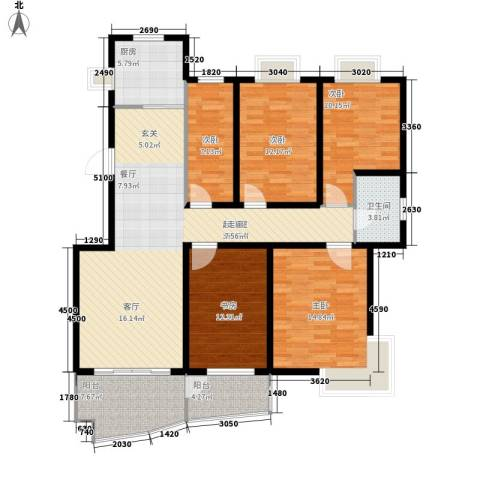 中南・麒麟锦城5室0厅1卫1厨146.00㎡户型图