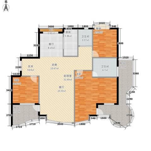 世嘉星海二期3室0厅2卫1厨186.00㎡户型图