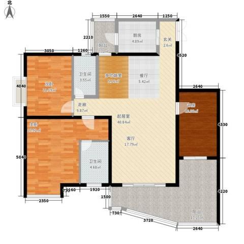 东和春天3室0厅2卫1厨126.00㎡户型图
