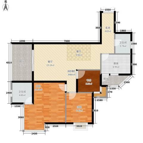 东和春天3室0厅2卫1厨111.00㎡户型图