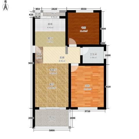 中浩学府风景2室1厅1卫0厨103.00㎡户型图