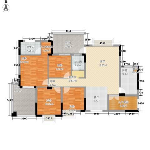 宜居莱茵城4室0厅2卫1厨148.00㎡户型图