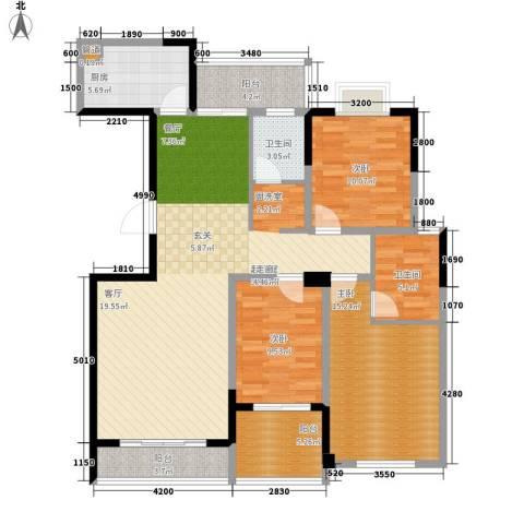 麓景裕园3室0厅2卫1厨133.00㎡户型图