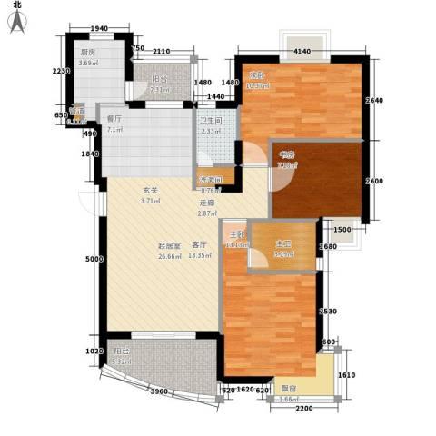 天赐良园3室0厅1卫1厨85.00㎡户型图