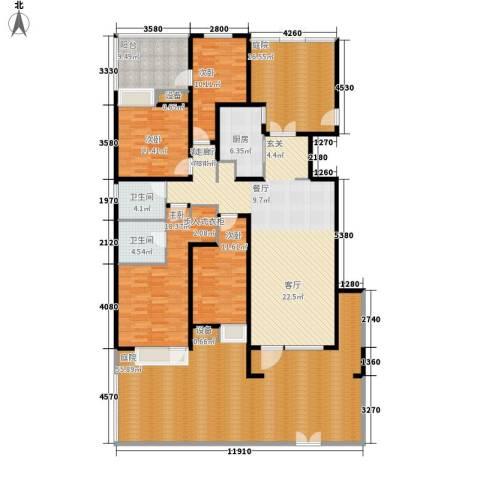 玉带二村4室1厅2卫1厨268.00㎡户型图