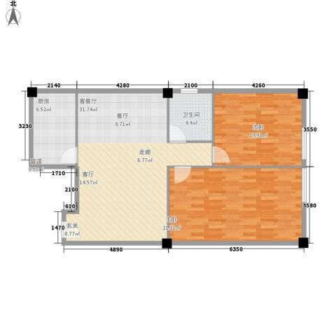 富仕雅庭2室1厅1卫1厨101.00㎡户型图