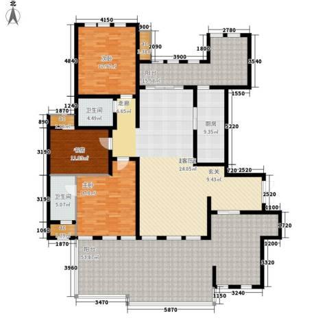 中隆国际御玺3室0厅2卫1厨275.00㎡户型图