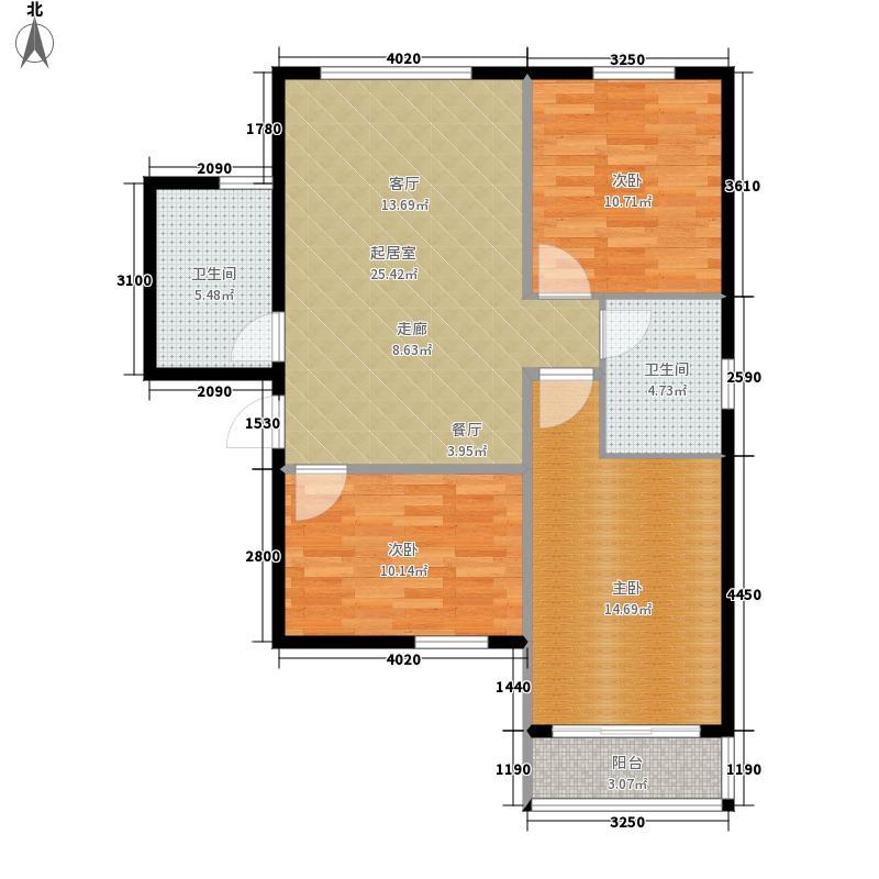 领秀城143.00㎡3#1单元D3室面积14300m户型