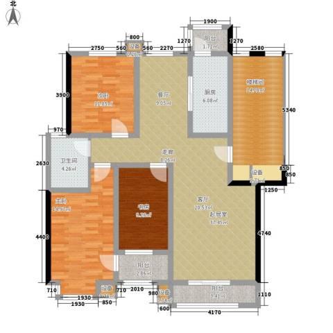朝阳绿茵 朝阳上品3室0厅1卫1厨154.00㎡户型图