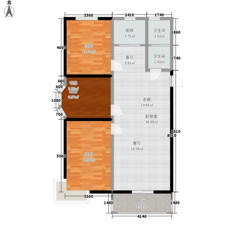海兰嘉园112.92㎡B11面积11292m户型