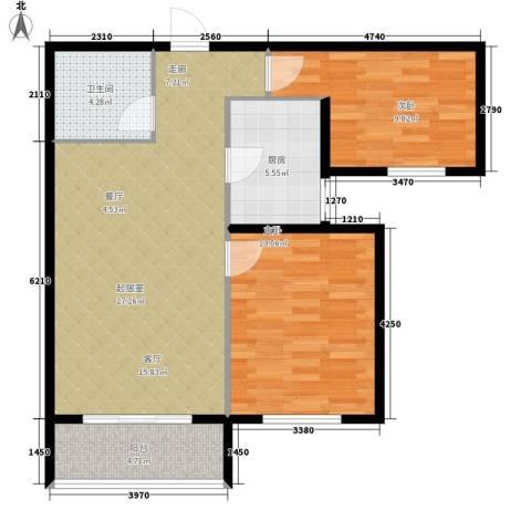 领秀城2室0厅1卫1厨95.00㎡户型图