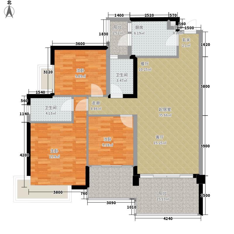 华凯大院130.30㎡华凯逸悦豪庭16号楼02户型3室2厅