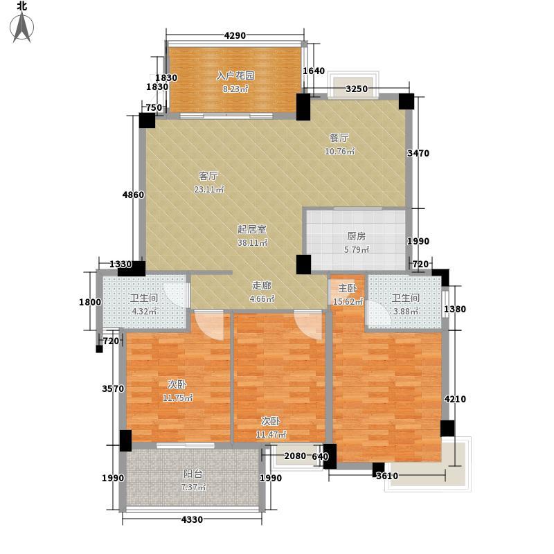 君临荔江8号楼A户型3室2厅2卫