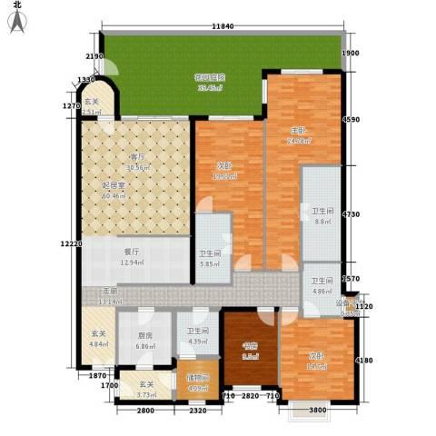 城市经典三期夏宫4室0厅4卫1厨230.00㎡户型图