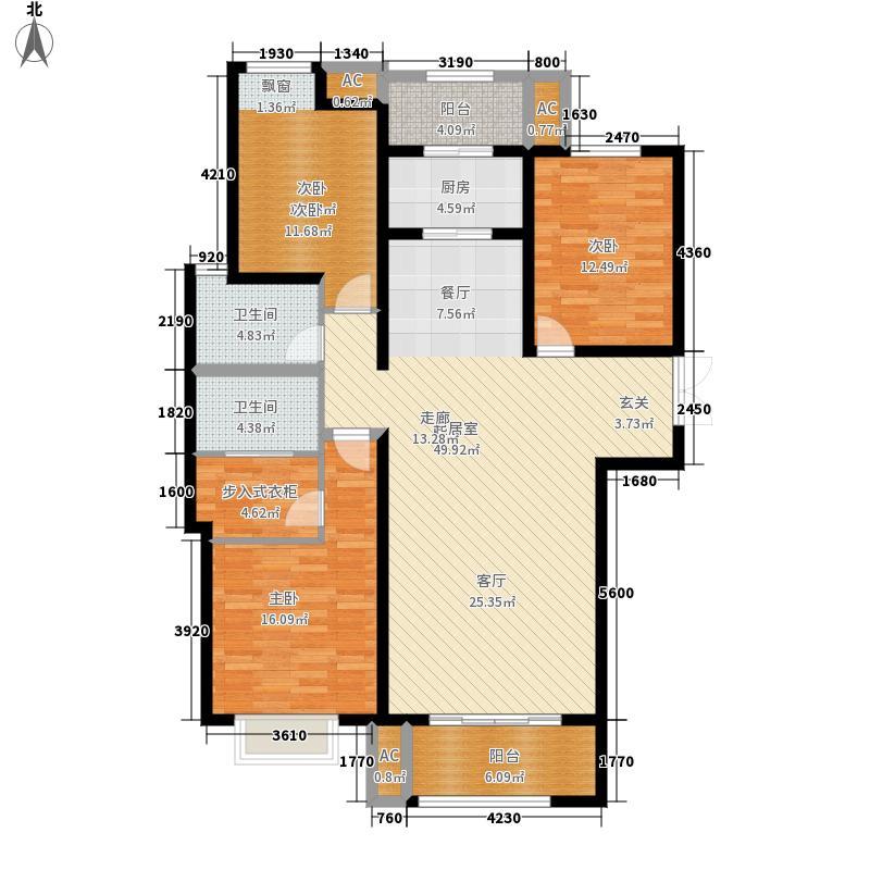 绿地世纪城塞纳公馆140.20㎡4#楼A3户型3室2厅