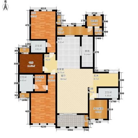中隆国际御玺3室0厅4卫1厨280.00㎡户型图
