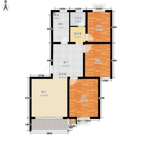 经典雅居3室0厅1卫1厨149.00㎡户型图
