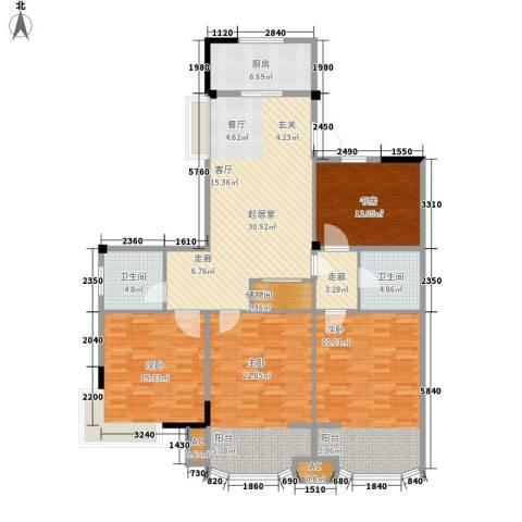 圣日华庭4室0厅2卫1厨139.00㎡户型图