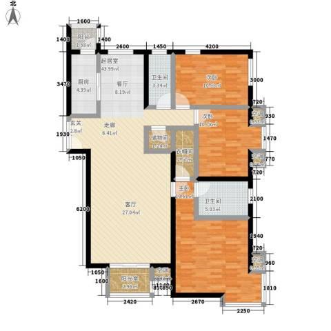 世纪城龙兴苑3室0厅2卫1厨158.00㎡户型图