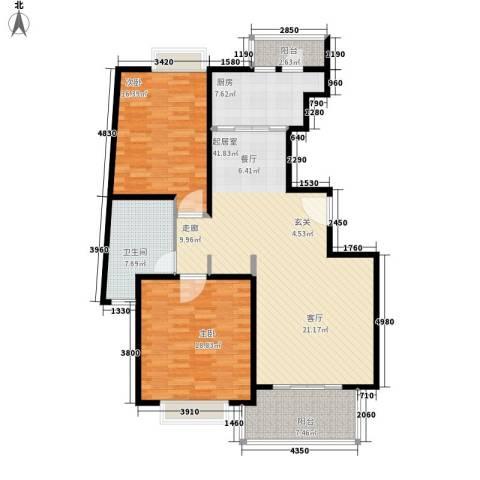 长宁馥邦2室0厅1卫1厨114.00㎡户型图
