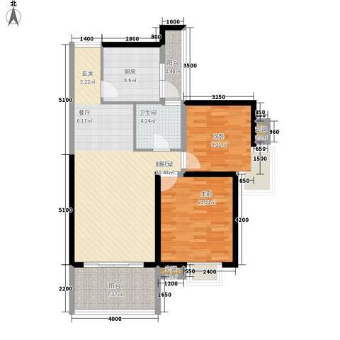 世纪城龙慈苑2室0厅1卫1厨106.00㎡户型图
