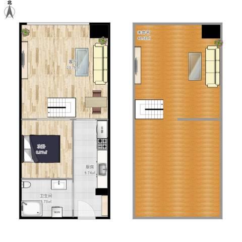 i立方1室1厅1卫1厨129.00㎡户型图