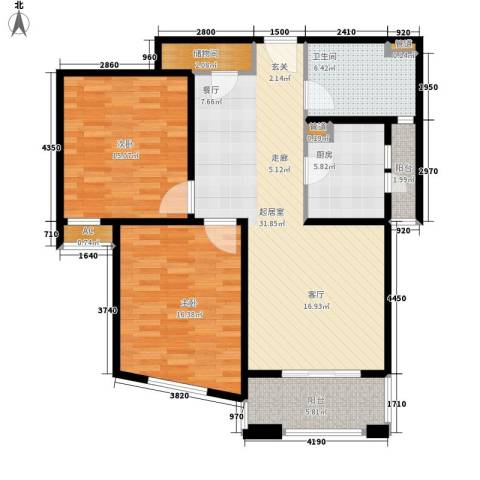 金色贝拉维2室0厅1卫1厨98.00㎡户型图