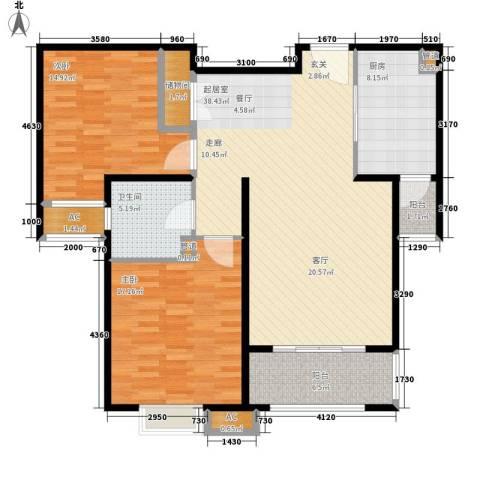 金色贝拉维2室0厅1卫1厨108.00㎡户型图