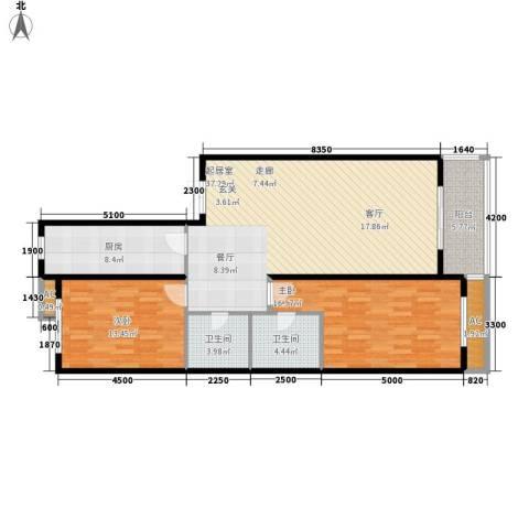 大唐天下江山2室0厅2卫1厨129.00㎡户型图