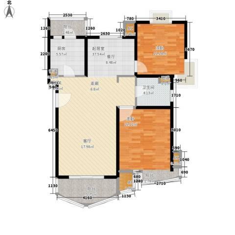 金桥一方2室0厅1卫1厨96.00㎡户型图