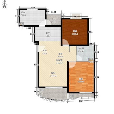 金桥一方2室0厅1卫1厨95.00㎡户型图